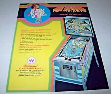Williams DIPSY DOODLE Original NOS Flipper Arcade Game Pinball Machine Flyer