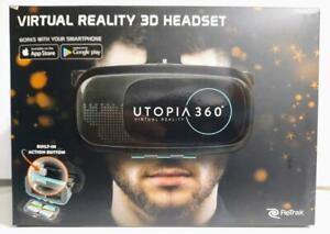 ReTrak Utopia 360° Virtual Reality Headset for Smartphones w/ Remote, Bluetooth