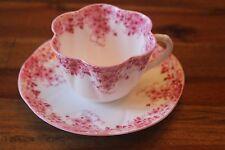 Shelley Dainty Pink Teacup Tea Cup Saucer Set Flowers Chintz 051/P