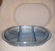 Tupperware ~ Blue Acrylic Tray, Dividers & Sheer White Seal