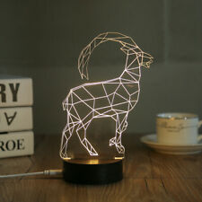 3D LED Night Light Desk Table Lamp Home Decoration Ram Goat (DL-GT)
