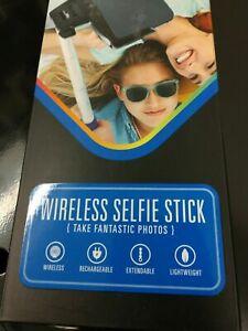 $30 Polaroid Wireless Bluetooth Selfie Stick Blue Lightweight compact adjustable