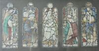 Thomas William Camm? Stained Glass Design  Watercolour paintings, signed.