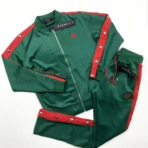 ETERNITY BC/AD men 2p set track suit size large Green/red 100%AUTHENTIC
