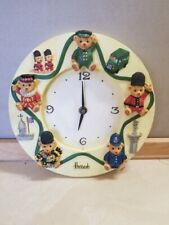 Harrods of London Teddy Bear Wall Clock Beefeater Guard Taxi Scottish Police Fs