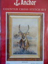 """Cross stitch Kit  """" Antelope """" New by Anchor"""
