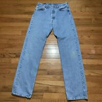 Vintage LEVI'S 501 XX Button Fly Denim Straight Leg Jeans Mens 34x36 Made In USA