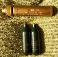 Vintage Cylinder & Cannister Military Aviation??mini Oxygen Air-aid Collectible