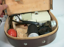 Minolta Zoom8 movie camera in leather bag with manual & extras vintage