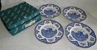 Johnson Bros. England Old Britain Castles Boxed Set of 4 Dinner Plates MIB