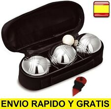Juego de Petanca 3 bolas de acero + Bolso + Accesorios set de bolas PETANCAS