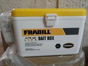 Frabill aqua 8qt Insulated Bucket Lid Latch Fishing Live Bait Cooler Aerated Box