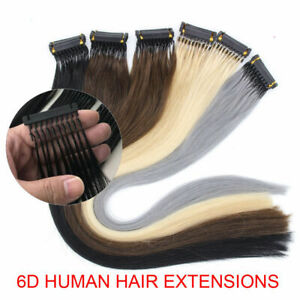 6D Pre-bonded Remy Real Human Hair Extensions 20gram 40 Strands 14-26Inch