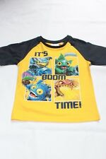 Boys Skylanders T-Shirt Clothing Official Top Tee Kids White Yellow Blue Age 2-8