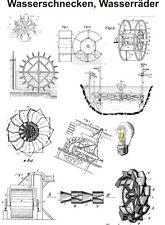 Wasserschnecken Wasserräder Generator freie Energie