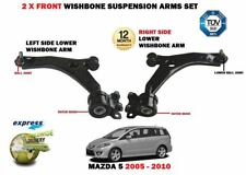 FOR MAZDA 5 2005-2010 2X FRONT LEFT+ RIGHT WISHBONE SUSPENSION CONTROL ARMS SET