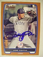 VICENTE JOSE CAMPOS signed #/250 ORANGE YANKEES 2012 Bowman baseball card AUTO