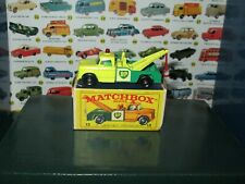 MATCHBOX LESNEY #13 DODGE WRECK TRUCK VNC W/ORIGINAL EARLY BOX
