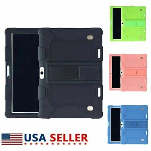 """For 10.1"""" Inch Android Tablet Pc Shockproof Silicone Cases Covers Plain Gift US"""