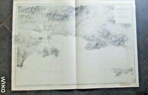 Carte marine ancienne Golfe de Giens Toulon  Var   1905