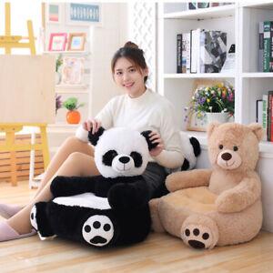 Baby Kids Panda Plush Sofa Seat Children Bear Soft Chair Toddlers Armchair Seat