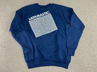 Laticrete Sweatshirt Crewneck Collegiate Pacific Latamastic Brand Blue 80s VTG