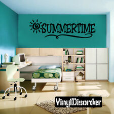 Summertime Summer Holiday Vinyl Wall Decal Mural Quotes Words-hd014