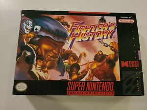 Fighter's History Authentic Original Super Nintendo SNES Box only