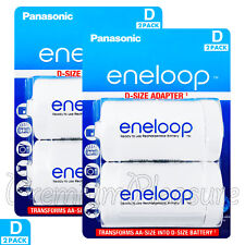 4 x Eneloop D Size Adapter Transforms AA battery Converter Spacer Adaptor BQBS1E