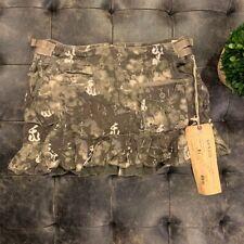 **NWT** $150 Da-Nang Chinese Camo Charcoal Skirt Size XS