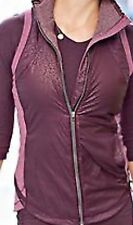 Lululemon Rebel Runner Vest Sz10 Petal Camo Embossed Bordeaux❤️gorgeous❤️