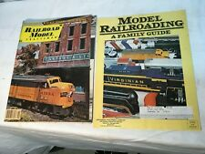 Vintage Set of 2 Model Rail Road Magazine How To Build Educational Guide to Rail