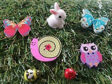 Fairy garden accessories, butterflies, rabbit, owl, snail, bee, ladybug