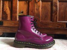 Dr Martens Purple Patent boots Size 6