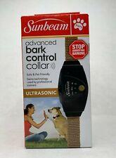 "Sunbeam Bark Control Dog Collar Adjustable 6""-28"" Ultrasonic Safe & Pet Friendly"