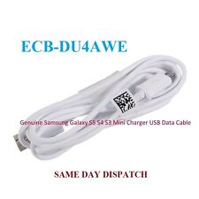 Genuine Samsung Galaxy S5 S4 S3 Mini Cargador Sync Micro USB Data Cable Lead 1M