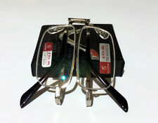 Quality Mini Reading Glasses Metal Half Frame HD Lens Folding +1.00 ~ +4.00