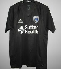 MLS Adidas San Jose Quakes Soccer Football Jersey New Mens LARGE $55