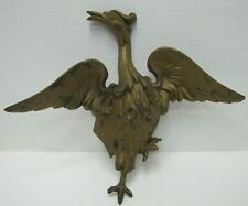 Antique Cast Iron Figural Spread Winged Bird Architectural Hardware Element