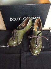 DOLCE & GABBANA Womans Chaussures Avec Boîte Sac à Poussière Taille 36.5 PPR £ 450 porté seulement 2 H