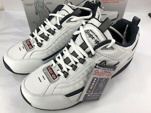 New Skechers Shape Ups XT White Navy Training Shoes SN52000WNV Men's Size 13 US