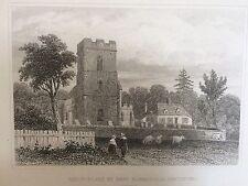 c.1845 Print; Birth-Place of Robt. Bloomfield, Honington, Suffolk