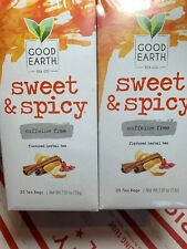 Good Earth Teas Sweet and Spicy Caffeine Free Herbal And Black  100 Tea Bags