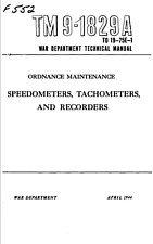 167 Page TM 9-1829A Speedometers Tachometers Recorders Technical Manual on CD