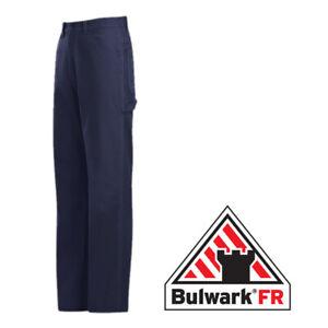 Bulwark EXCEL FR Dungaree Navy Duck Flame Resistant Industrial Uniform