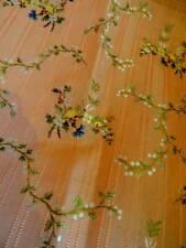 Stunning 19th Century French Lyon Silk Brocade Floral Panel ~ Garlands (B)