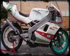 Gilera Sp 02 125 90 2 A4 Photo Print Motorbike Vintage Aged