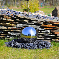 Edelstahlkugel poliert 30cm Springbrunnen Kugelbrunnen Brunnen Gartenkugel außen
