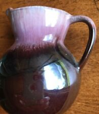 """Purple POTTERY Small Glazed Pitcher or Vase 2 3/4"""" Tall"""