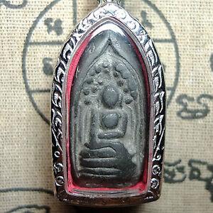 Lead Phra Kring Klong Takian Wat Pradoosongdham Top Invulnerable Thai Amulet .